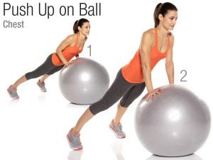 Ballon de stabilité push-up