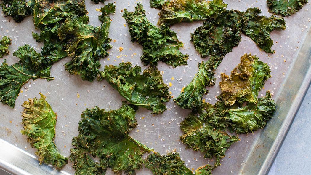Kale Chips sur pan