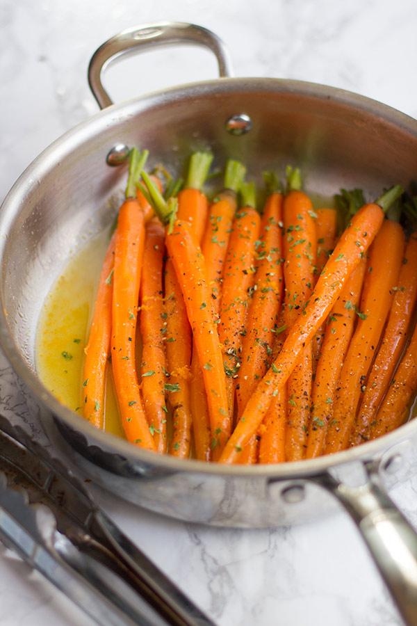 carottes glacées au miel orange