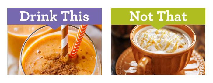 Boisson smoothie vs latte