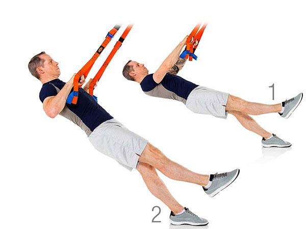 TRX Une rangée de jambe