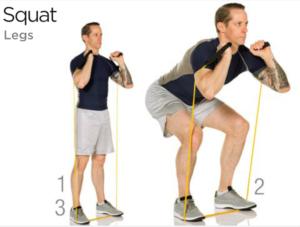 bande squat