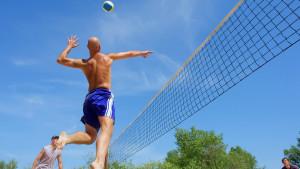 Garçons de beach volley