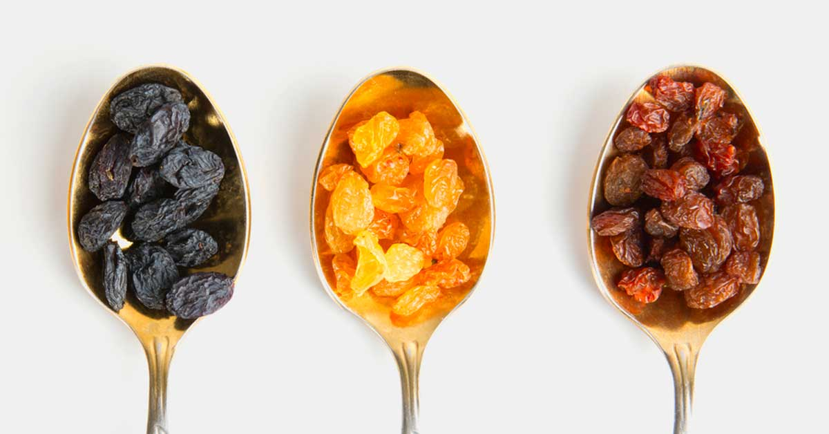 Raisins vs Sultanes vs Groseilles: quelle est la différence?