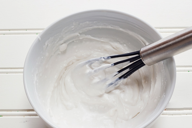 crème de noix de coco fouettée