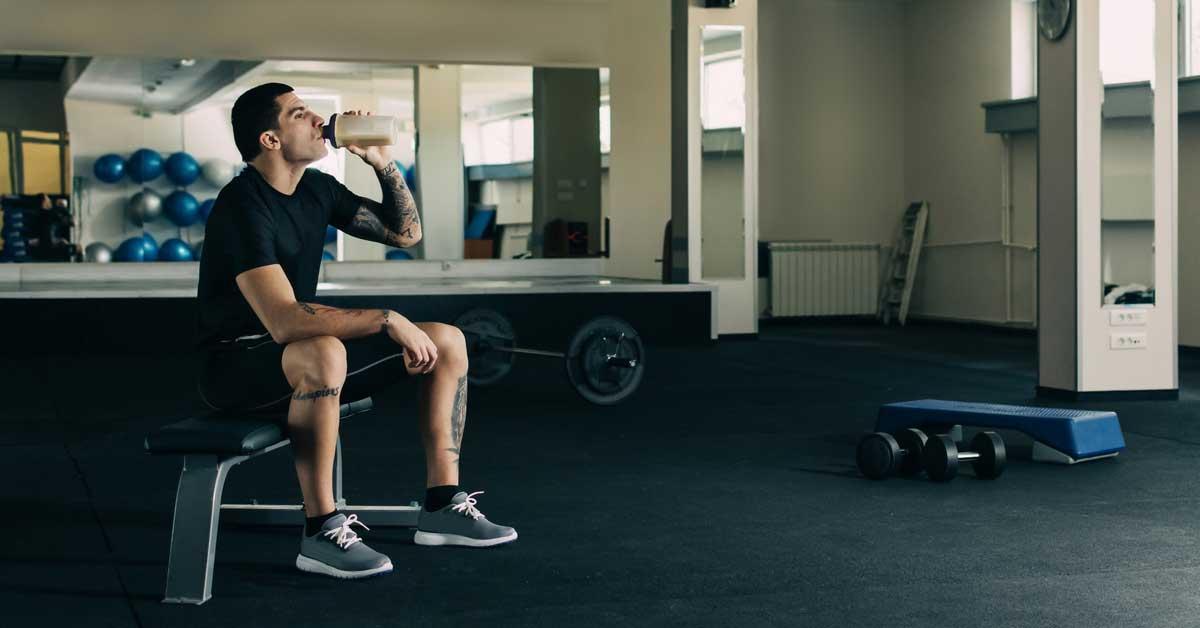 Si vous avez un shake protéiné avant ou après votre entraînement?