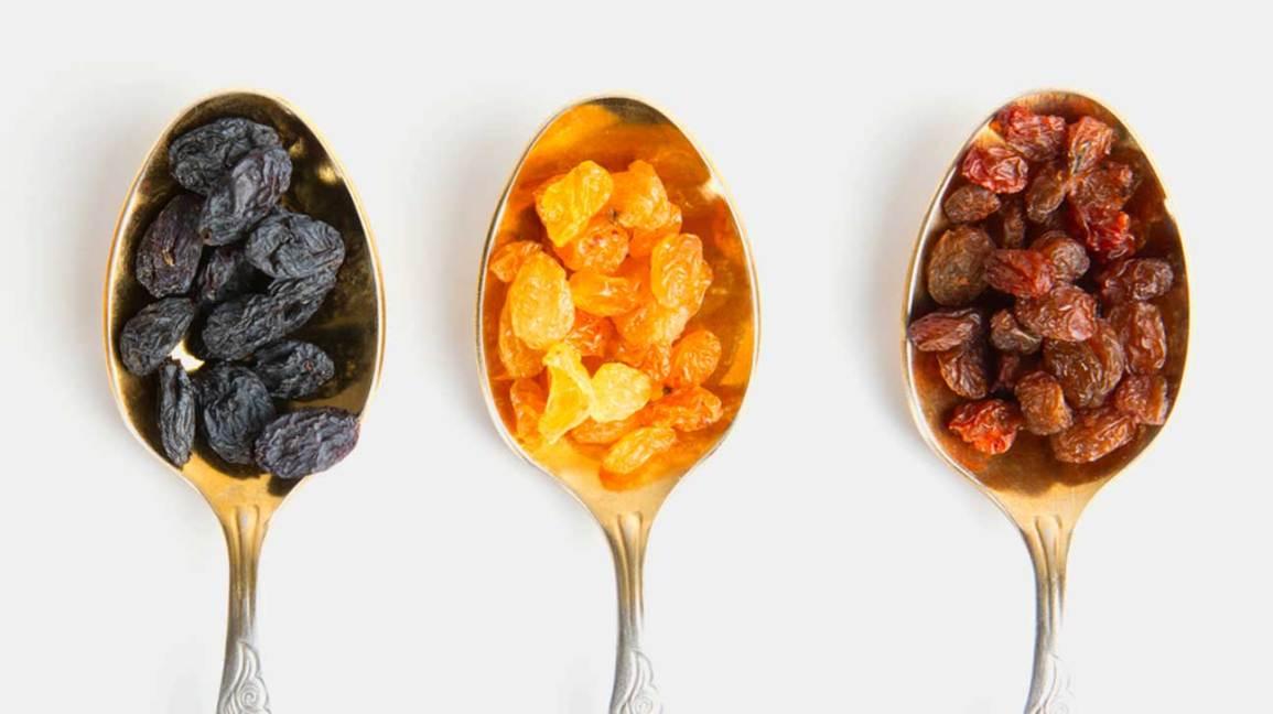 Raisins secs, raisins secs et raisins de Corinthe