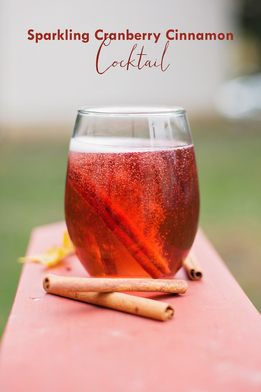 cocktail mousseux aux canneberges