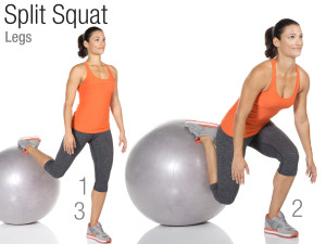 Balle de stabilité split squat