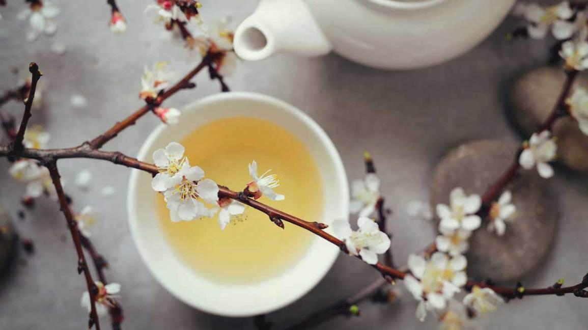 Thé blanc en tasse