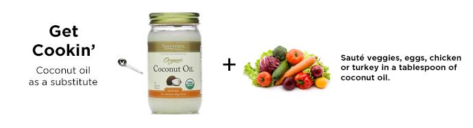 légumes huile de coco