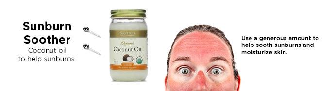huile de noix de coco coups de soleil