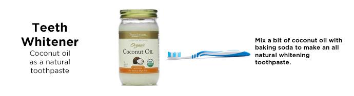 Tannblegemiddel Kokosöl