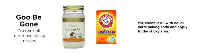 l'huile de noix de coco goo-away