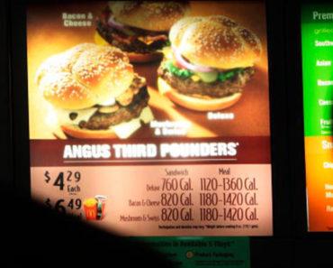 Les calories comptent sur les menus fonctionnent