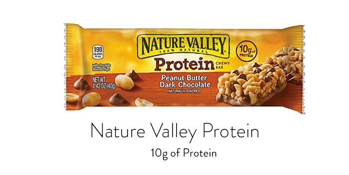 barre de protéines de montagnes naturelles