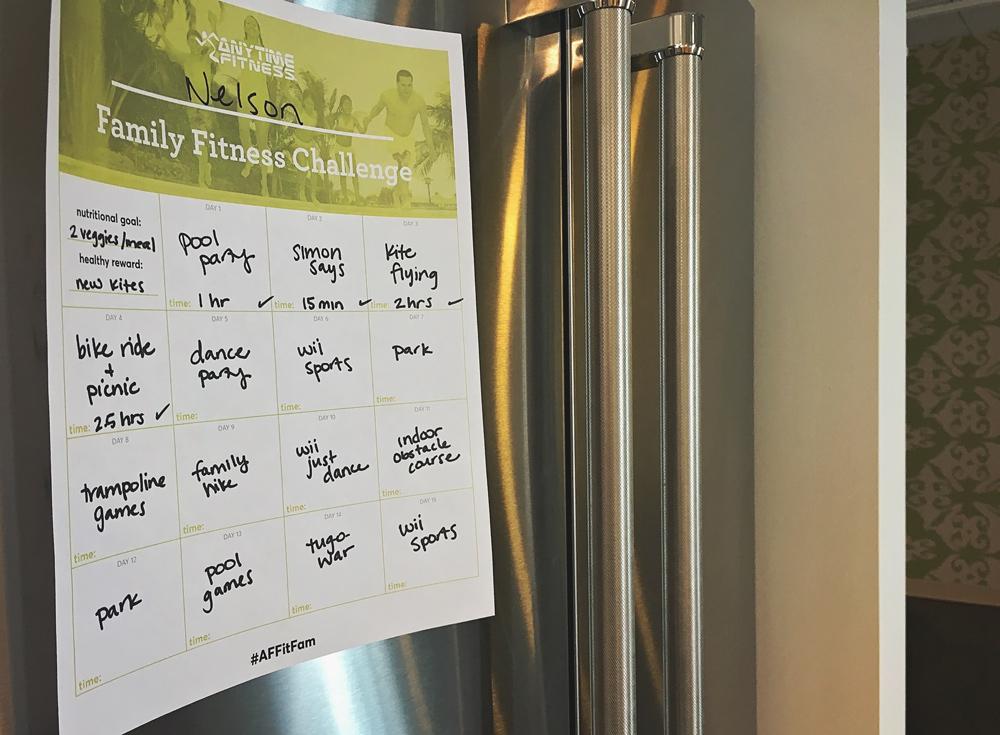 Défi de fitness en famille