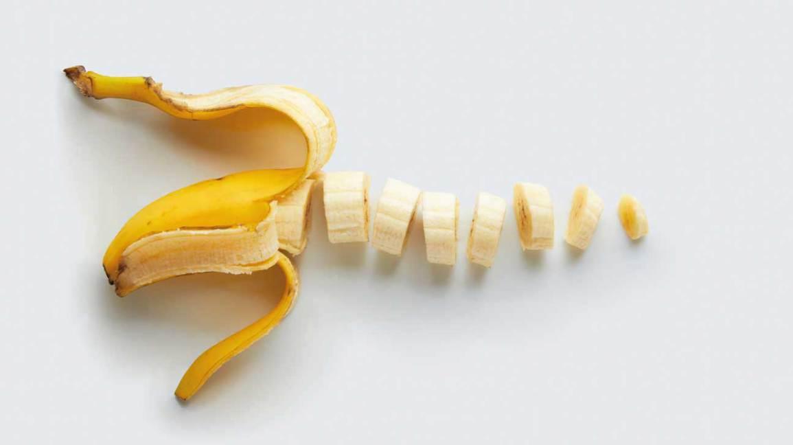 Banane hachée