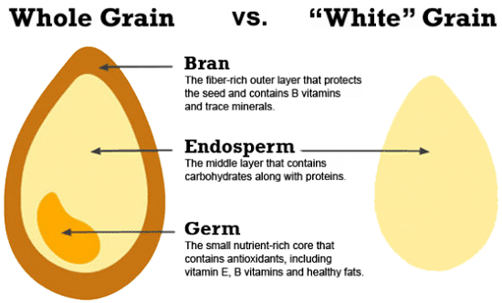 Diagramme de grain entier vs grain blanc