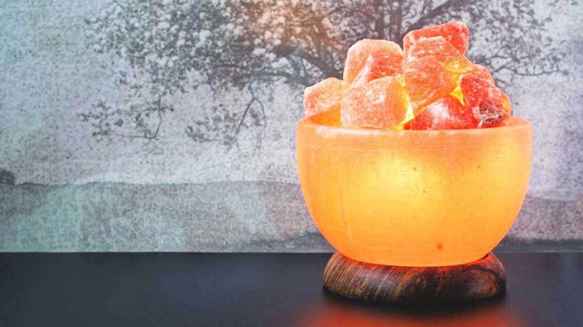 Lampe à sel himalayenne en forme de bol