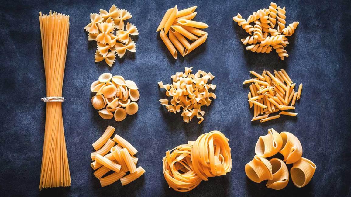 Variété de pâtes