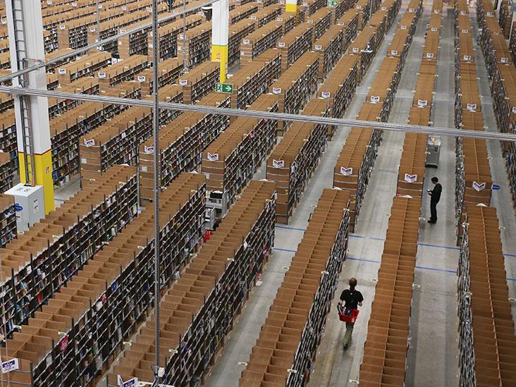 Les entrepôts alimentaires Amazon