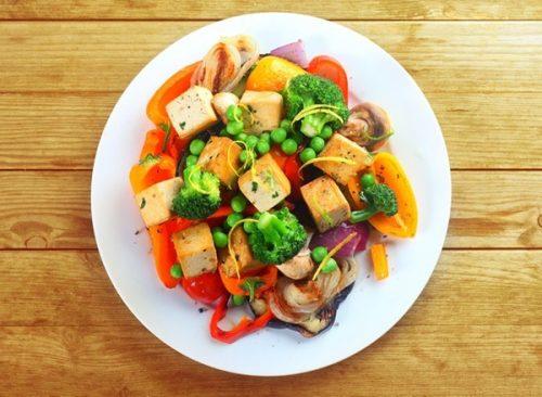 dîner de légumes - perte de poids malsaine