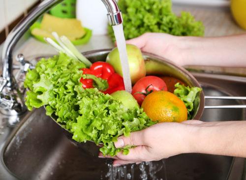 Laver les légumes - perte de poids malsaine