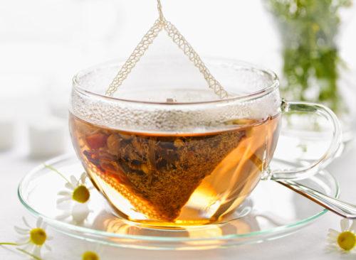 Sachet de thé raide