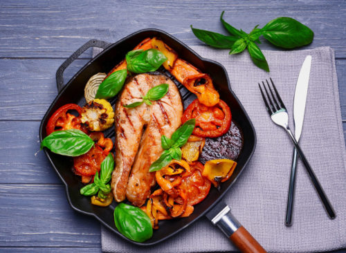 Et casserole de saumon