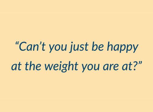 Vous pouvez simplement aimer le poids que vous êtes dans la citation
