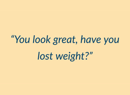 vous avez l'air bien, vous avez perdu la citation de poids