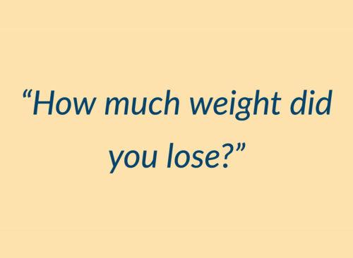 combien de poids avez-vous perdu la citation