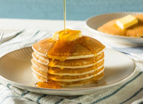 Assiette de pancakes