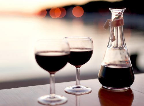 Red wine and carafe