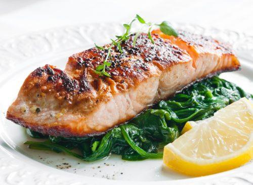 Filet de saumon et épinards