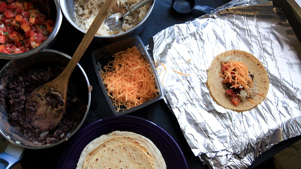 Recette: burritos aux haricots noirs surgelés