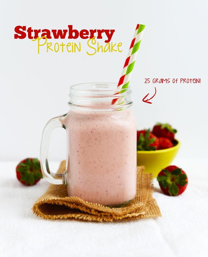 Recette shake protéiné au ventre et à la gelée de fraise