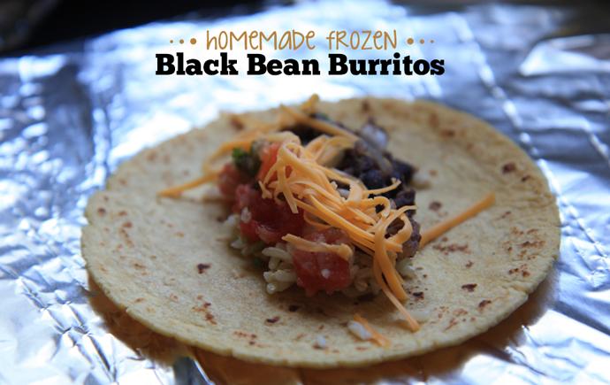 burritos aux haricots noirs surgelés