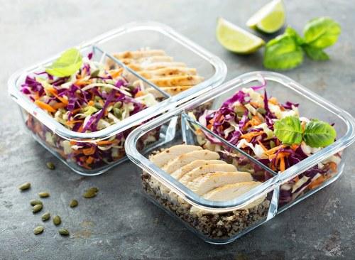 Contenants de préparation de repas - comment se débarrasser de l'estomac gonflé en 24 heures