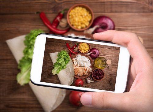 photo de téléphone de la nourriture