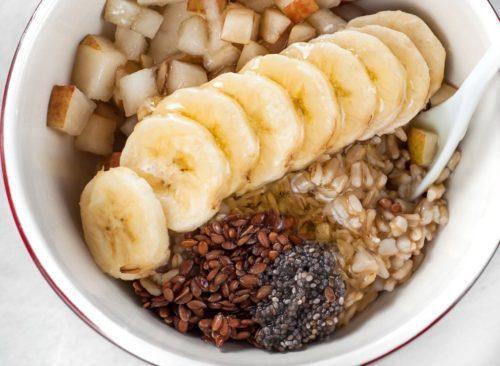 Flocons d'avoine banane lin chia