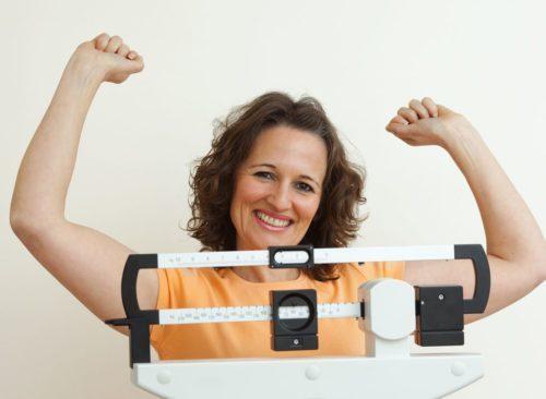 Weight loss success woman