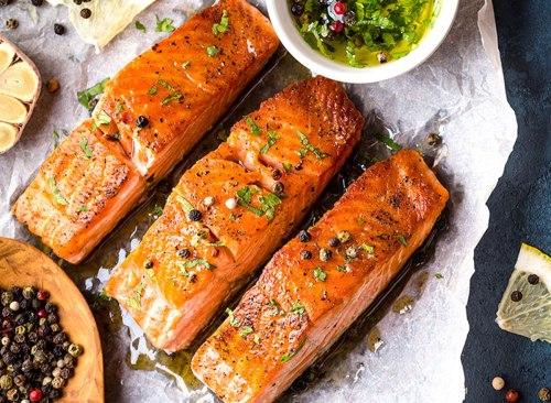 saumon épicé aux herbes