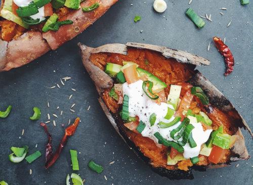 Avocat mexicain à la patate douce