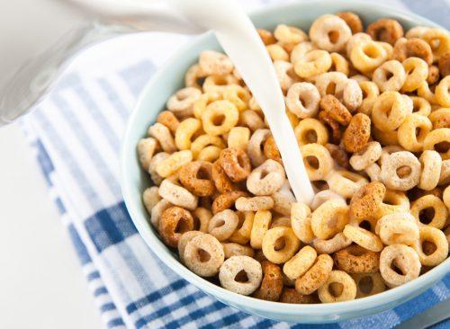 Cheerios et lait