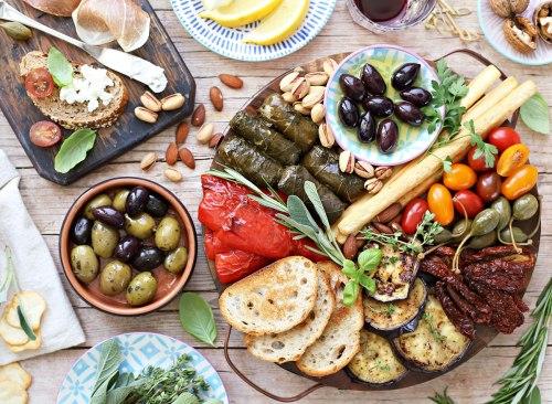 Assiette apéritif régime méditerranéen