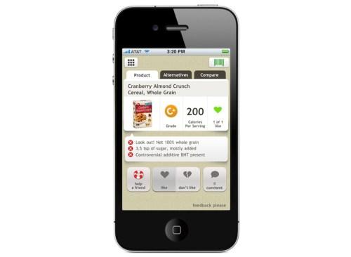 app fooducate sur iphone
