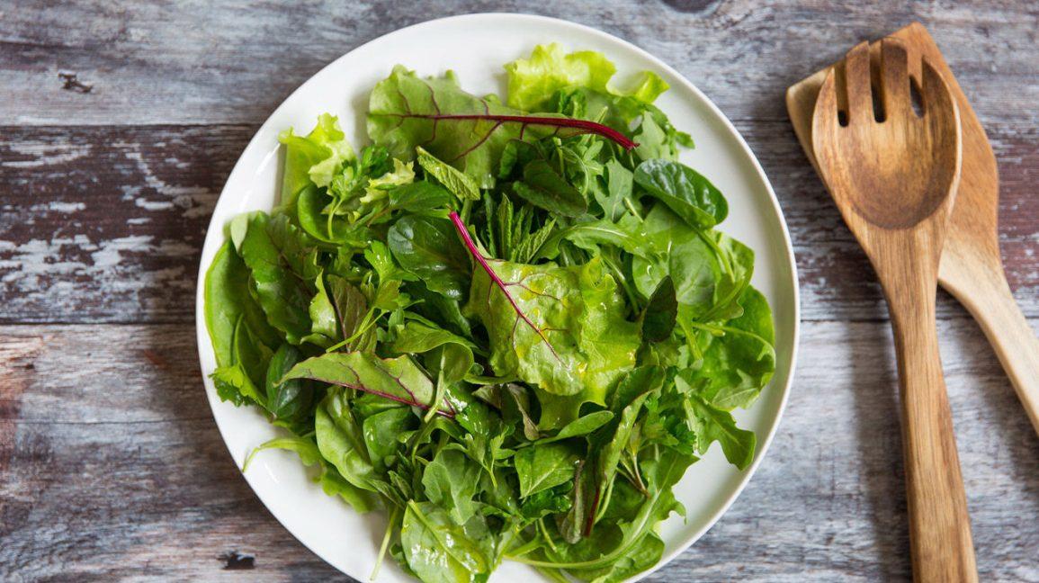 Salade verte avec différents types de laitue