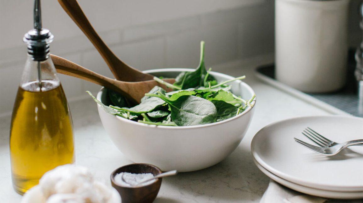 Salade à l'huile d'avocat